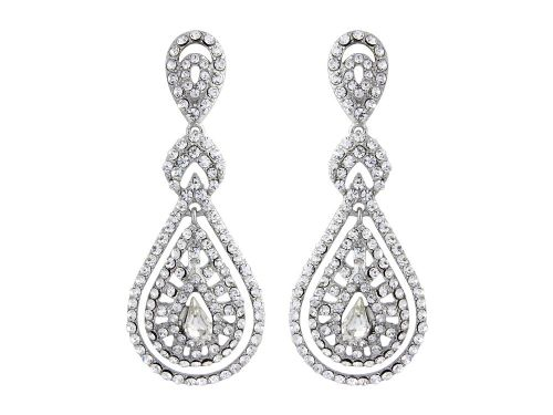 Art Deco Crystal Chandelier Earrings, Crystal Drop Bridal Earrings